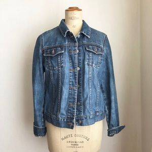 J. Crew denim jacket distressed M cotton vintage